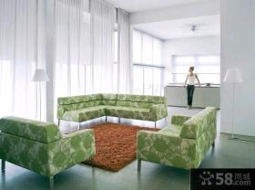 别墅客厅转角沙发图片