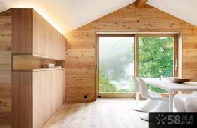日式复式家居实木装修效果图大全2015图片