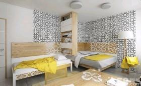 自然简约原木风公寓装修效果图
