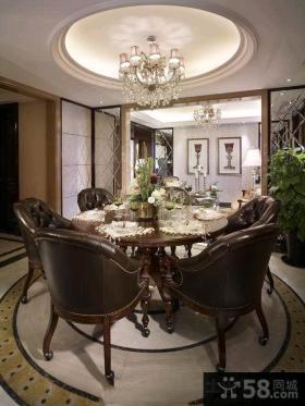 美式高档私人别墅室内装修效果图大全2014