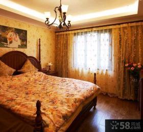 66平米美式乡村风格一居室装修图片欣赏