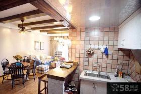 美式乡村风格两房一厅家庭装修