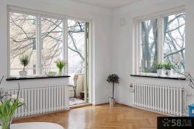 北欧风格两室一厅住房装修效果图大全2014图片