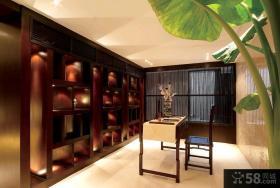 中式风格别墅装修客厅吊顶效果图