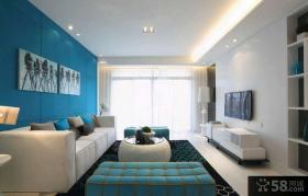 简约风格100平米三室两厅客厅装修效果图