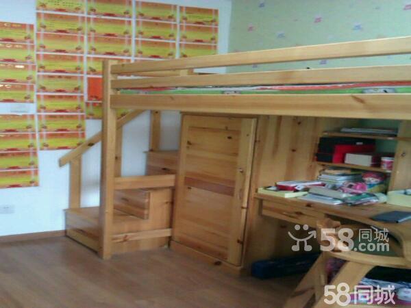 儿童实木组合床桌