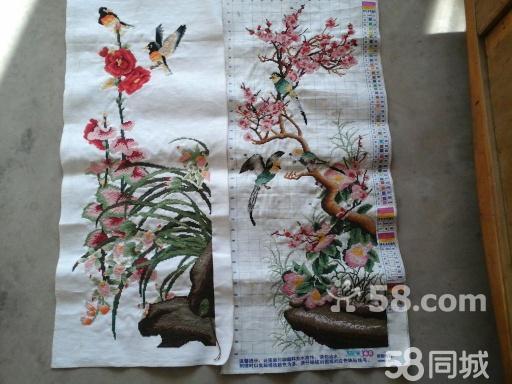 【图】梅兰竹菊,竖版十字绣