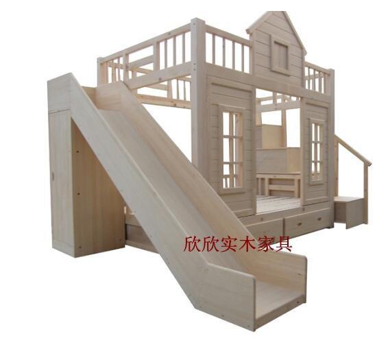 【图】儿童床 双层 全新带书柜