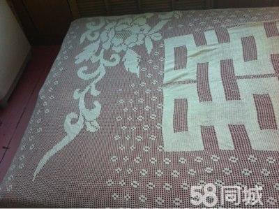 纯手工钩织的床单,纯棉得,喜欢什么图案都可以钩只要有图,就可以钩出