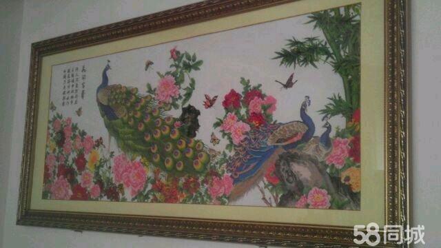 【图】花开富贵之孔雀十字绣
