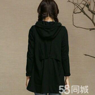 【图】50低价出春季黑色呢子风衣外套