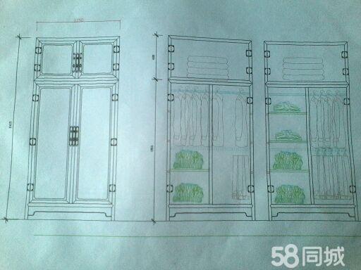5门衣柜内部结构