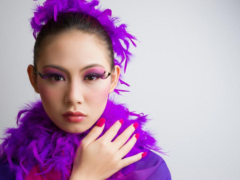 企业年会团体舞台演出主持人妆宴会妆节目录制彩妆造形