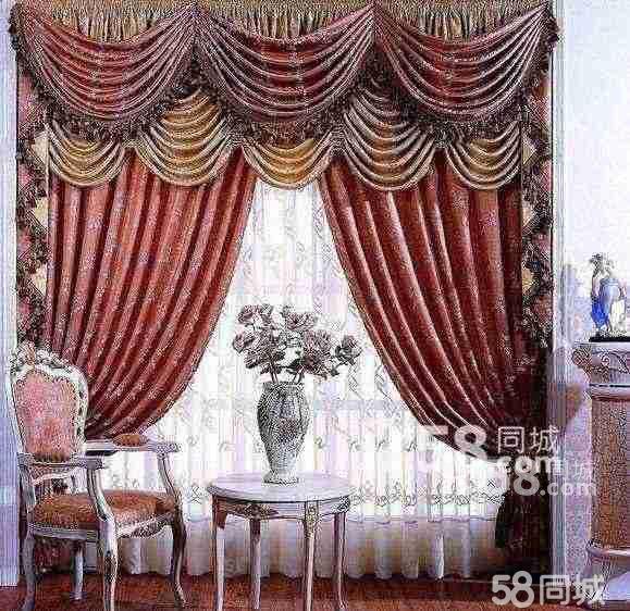 欧式窗帘布艺图片