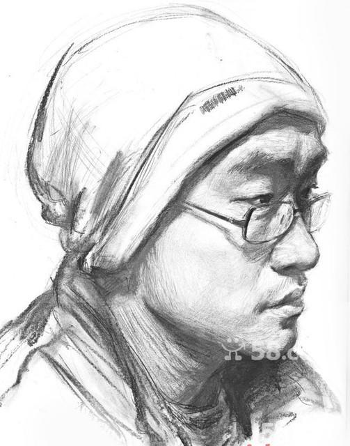 人脸部结构素描图图片_人脸部结构素描图图片下载
