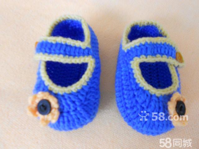 【图】纯手工钩织的 毛线宝宝鞋