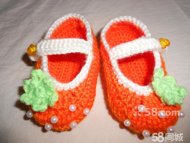 【图】纯手工钩织的 毛线宝宝鞋图片