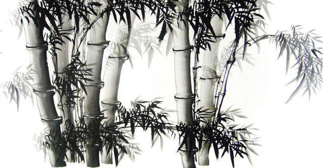 六尺横幅水墨竹第一字画图片