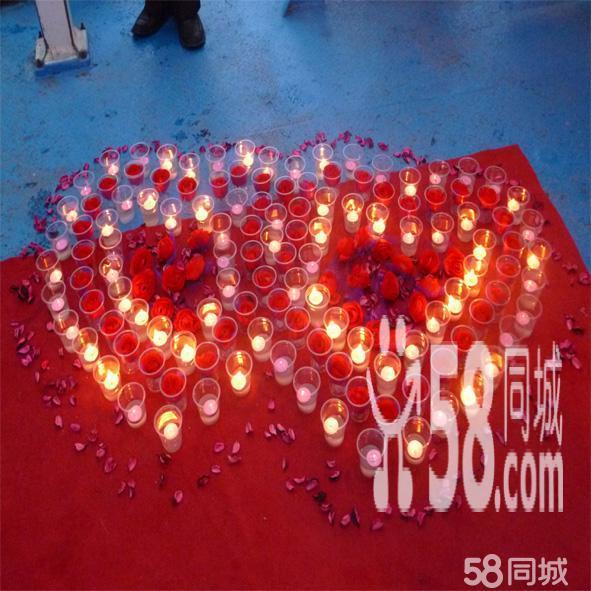 魔术气球蜡烛玫瑰情人节气球墙气球串生日宴会装饰图片