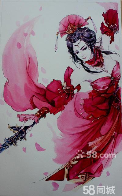 【图】手绘水彩古风插画