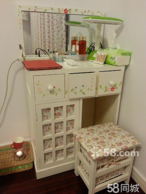 【图】梳妆台电脑桌两用哦带小凳子