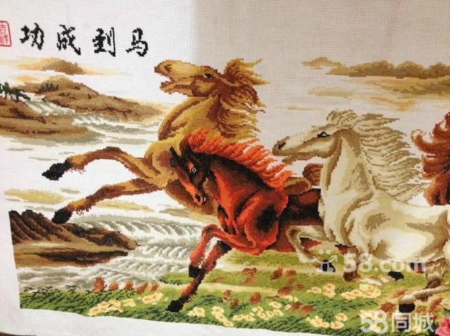 【图】八骏马马到成功精品十字绣