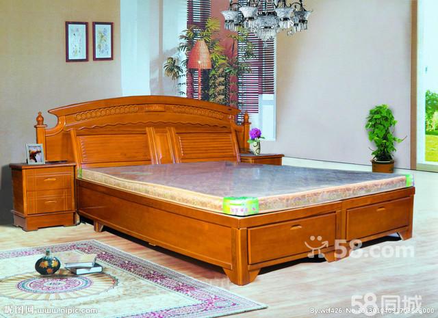 高档实木床设计图 室内设计;