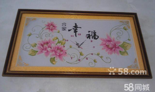 皇家玫瑰钟十字绣编织布图