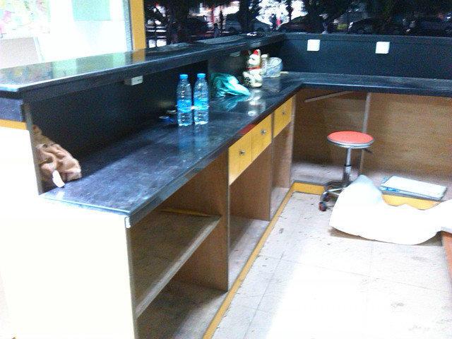 【图】原奶茶店大理石吧台转让 - 长安厦边办公