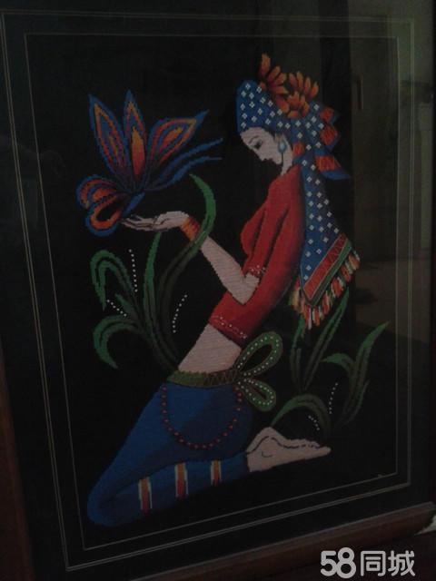 【图】大幅少数民族美女十字绣出售-艺术品/图片沟沟美女图片