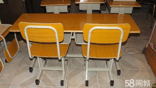 【图】儿童塑料桌椅双人课桌培训桌培训椅折叠桌学生