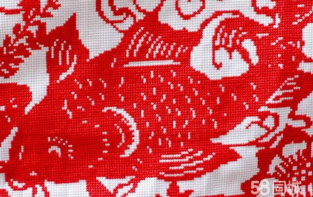 【图】十字绣剪纸绣九条鱼
