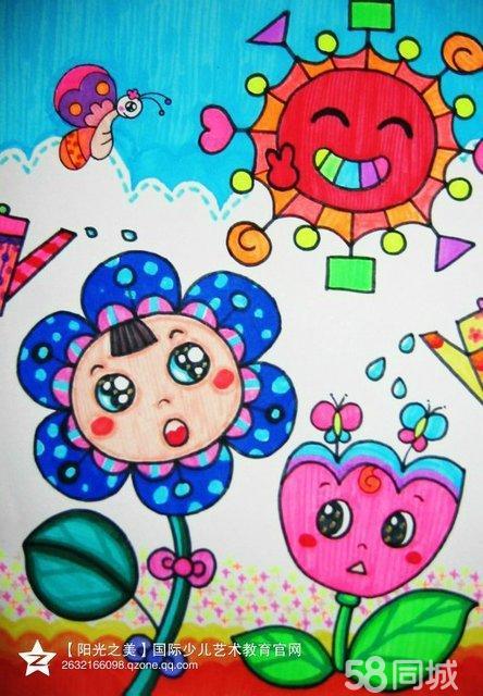 彩色简笔画 各种花朵