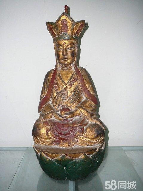 清代木雕地藏王菩萨