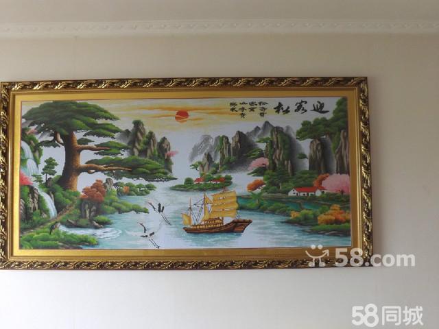 出售2米长1米宽迎客松十字绣纯手工-迎客松十字绣 迎客松十字绣图片图片