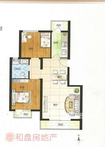 90.100平方米房屋设计图【房屋设计软件】