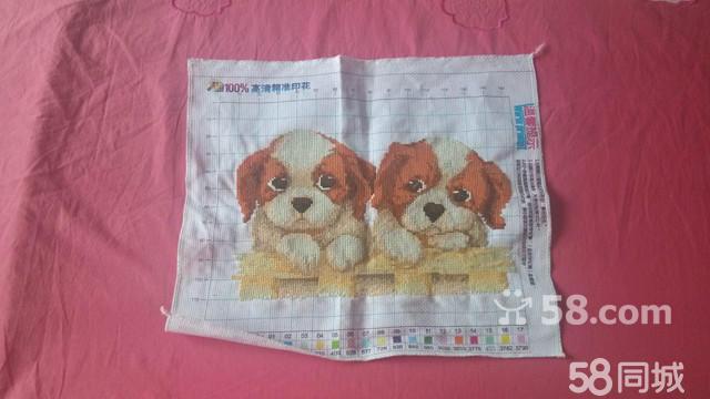 【图】十字绣两只图纸-于洪于洪广场艺术品/中心贸环北京小狗图片