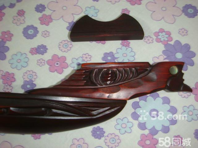 新西兰 红木 古战船 镶嵌鲍鱼壳 手工雕刻 独木舟