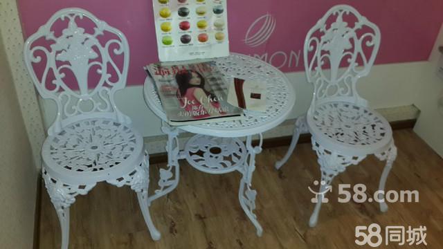 【图】欧式铁艺组合休闲下午茶桌椅一套