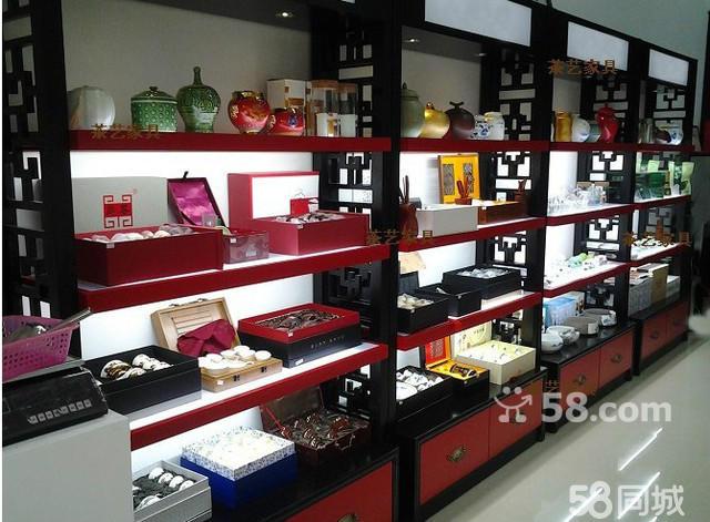 茶店展示柜 精品展柜专卖店 实木展示架饰品展示柜 中岛柜货架