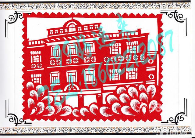 天津特色民间纯手工剪纸套装创意个性礼品 小洋楼马场道名人故居