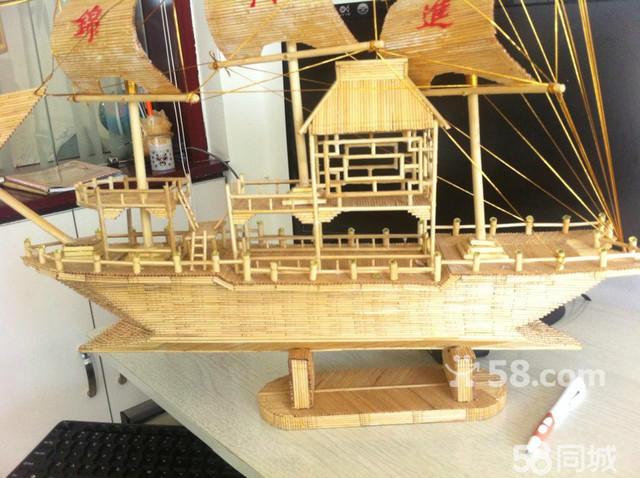牙签幼儿园手工制作船