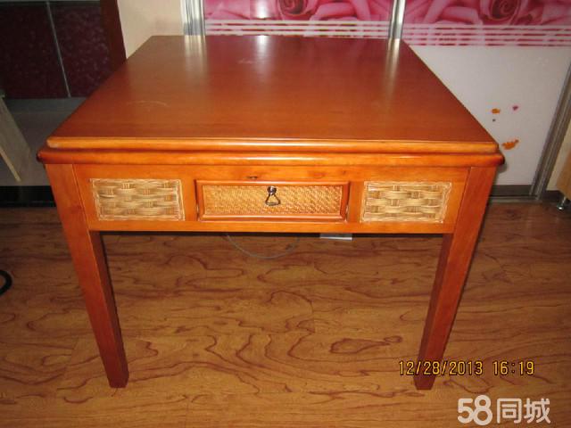 实木桌子,麻将机
