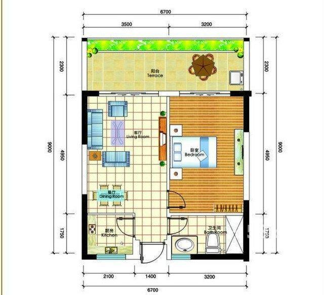 【图】三亚碧海蓝天小区1室1厅60㎡