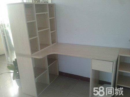 书桌设计图 转角书桌书柜组合 书桌书架电脑桌组合