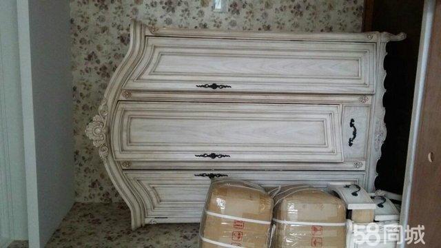 【图】衣柜实木欧式家具-洋泾浦东二手全新家具纬定制霖图片