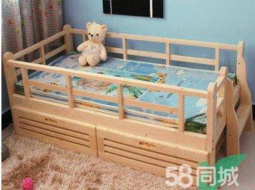 【图】尾梯儿童床 实木全松木