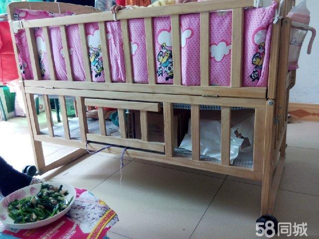 【图】全手工打磨实木婴儿床