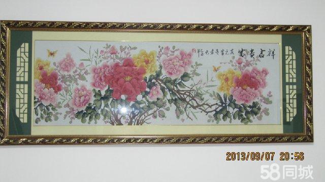 【图】花开富贵十字绣居家装饰