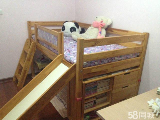 【图】滑梯儿童床全松木名牌